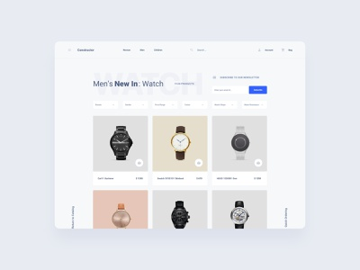 Watch Store Template component figma design web dashboard ui sketch ux download ui kit