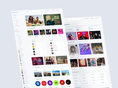 Music Dashboard ui kit download web music dashboard
