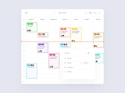 Calendar Cards Dashboard xd sketch figma download dashboard