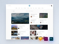 Blog Templates for Photoshop, Adobe XD and Sketch