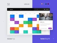 50 Calendar, Section Kit
