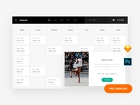 Free Schedule Web Template