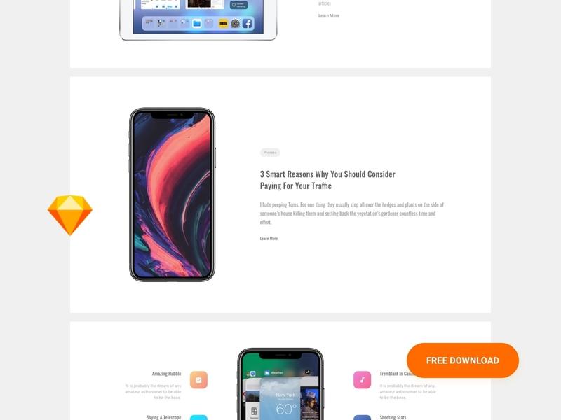 Free Feature UI Kit design kit interface app ui blocks download ui web sketch ux ui kit