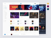 Music Application Design Template