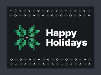 Happy Holidays ugly sweater christmas sweater boston klaviyo snowflake christmas holiday sweater