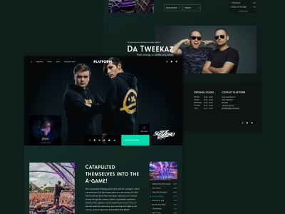 Artist page Concept - Booking Agency interaction design interaction website minimalist animation interactive design ux ui graphicdesign