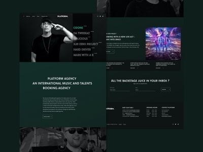 Homepage Concept - Booking Agency branding interaction typography music webdesign website interactive design animation ux ui minimalist