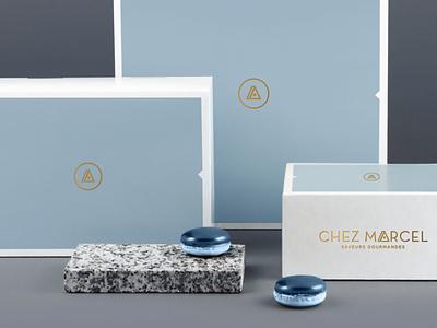 Pastry Packaging logo vector minimalist luxury pastry print branding design graphic packaging