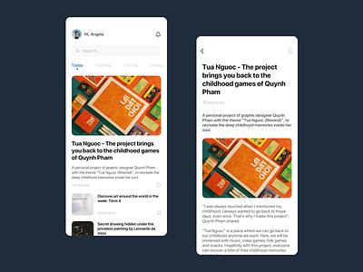 News App - UI designing fluent design typography illustration minimal ios app icon ux design ui