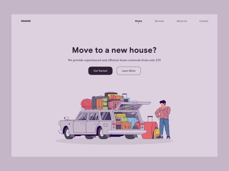 Home Removals Service Web Concept