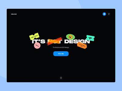 Personal Portfolio typography porfolio portfolio dark flat fluent design website design web design webdesign website web illustration minimal icon design ui