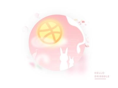 Hello Dribbble ᐧ Happy Moon Festival 🌕