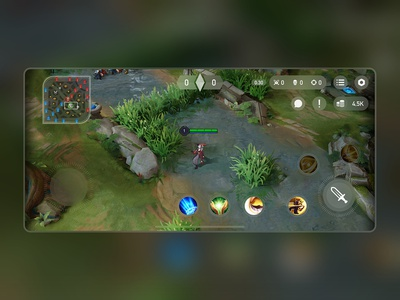 Arena Of Valor In-game UI Redesign mobile games blur mobile app mobile mobile game game design games game art game minimal ios app icon ux ui