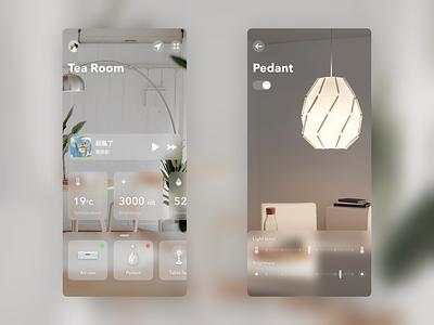 Smarthome App Concept light room blur control smarthome smart home ui design typography minimal app ios ux design ui