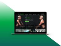 Fitness website desktop view