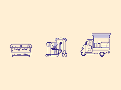 Coffee catering illustrations