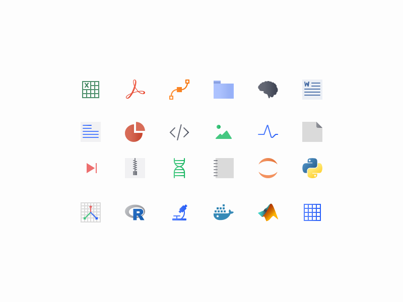 Data Type Icon Jawn by Crys Fitzgerald-Moore for Blackfynn on Dribbble