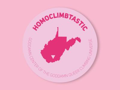 Homoclimbtastic sticker