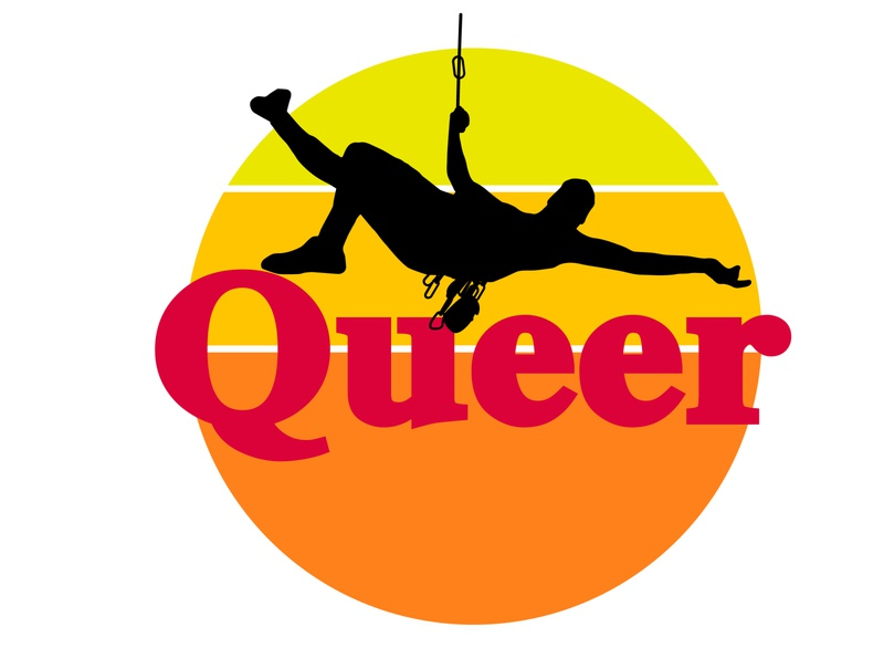 Queer Climber Sticker jawn wawa rock climbing gay die cut sticker illustration fabulous philly queer climbing