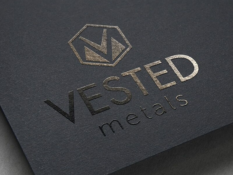 Vested Metals website logo identity design business cards web print branding