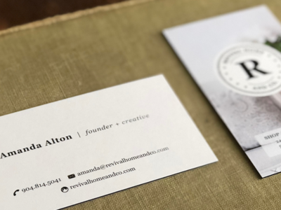 Revival Home and Co. Business Cards