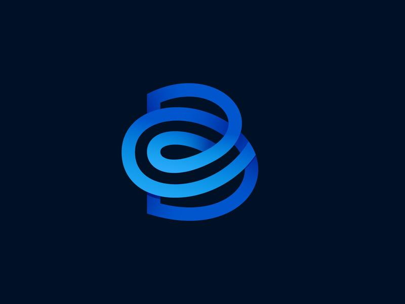Center Booking logo tagline geotag tag design blue letter mark logo