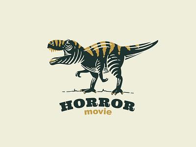T-rex with tiger skin retro emblem emblem mark logo tiger tiranosaur dinosaur t-rex
