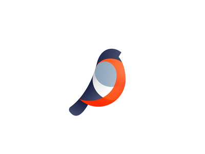 Bullfinch concept bird concept icon mark logo bullfinch