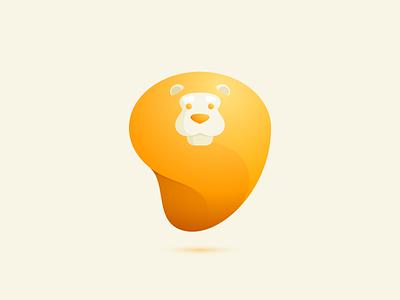 Lion with curved mane concept logo design gradient curved mane lion head lion mark logo