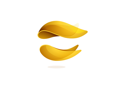 Sphere logo concept fire feather gold yellow sphere icon mark logo