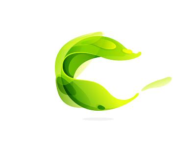 Green logo proposal eco logo colorful circle green leaf icon