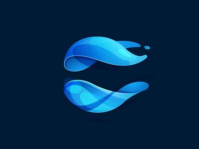 Blue sphere logo proposal sphere eco colorful blue circle icon mark logo