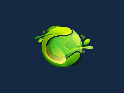 Green sphere logo proposal sphere leaf green eco circle icon logo mark