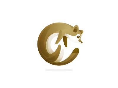 Weasel icon circle animal logo icon mark animal weasel