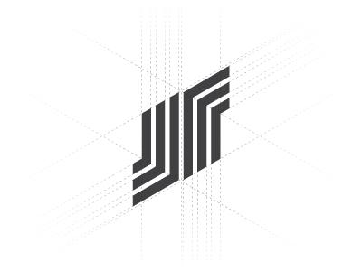 Nordec line n letter line constructions hexagon logo mark