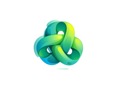 Abstract looped sign infinity loop eco circle mark logo