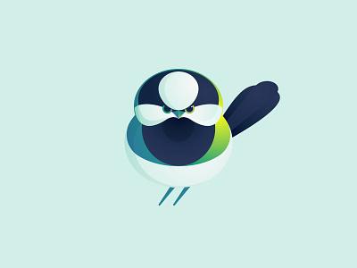 Tit bird tit bird animal icon mark logo