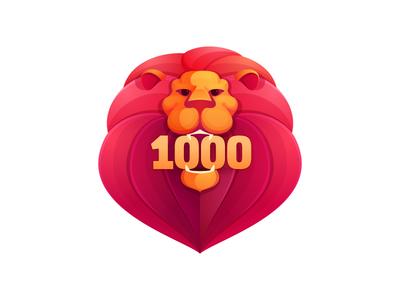 1000 followers! lion followers 1000