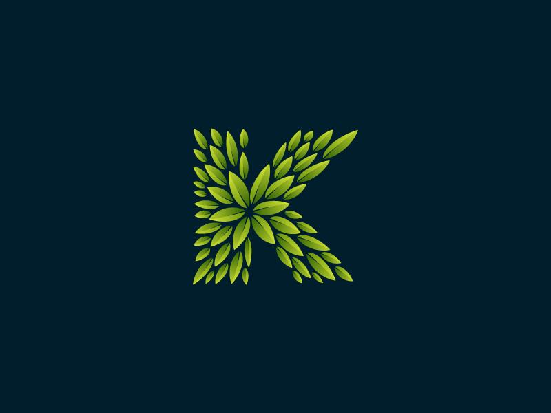 Green K by Roma Korolev (kaer logo) on Dribbble