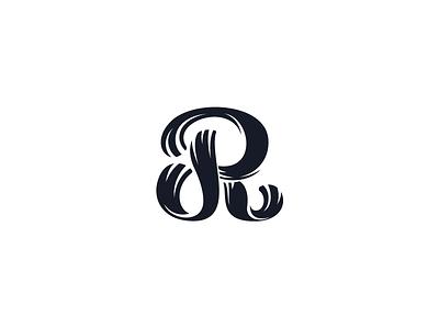Hand drawn R r letter painted brush lettering script alphabet hand drawn elegant