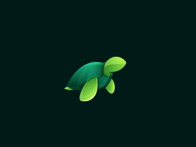 Turtle logo icon kaer green turtle sea turtle