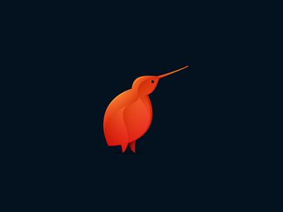 Kiwi bird kiwi red kaer icon logo