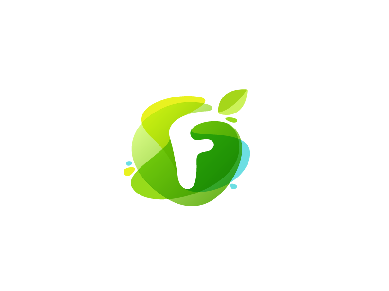 green watercolor f by roma korolev kaer logo dribbble