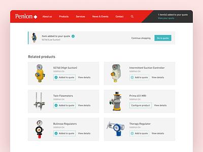 Penlon Product Upsell ecommerce design product ecommerce upsell