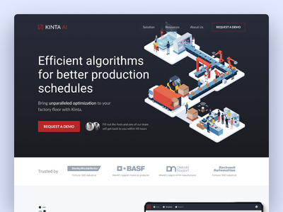 Artificial Intelligence Homepage marketing site startup artificialintelligence ai sass
