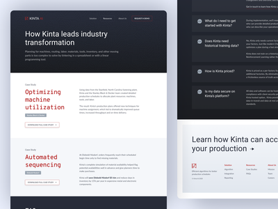 Artificial Intelligence Resources Page marketing site saas startup artificialintelligence faqs