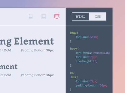 Style Guide Typography Page brand guide brandguide styleguide style guide typography code heading html css style tile
