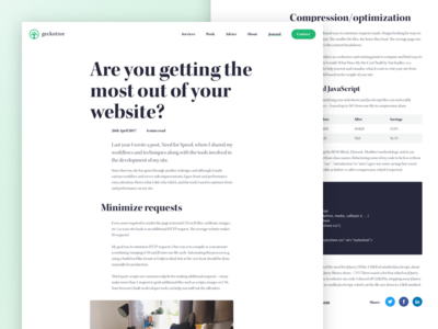 Geckotree journal article page (desktop)