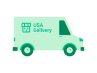Delivery van illustrations