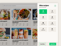 KitchenPal desktop recipe listing page (filter)